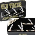 Schrade Old Timer '2016 Limited Edition' Gift Tin Set (SCHPROM1620CP)
