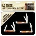 Schrade Old Timer 3 Pce Gift Tin (SCHOTP1726CP)