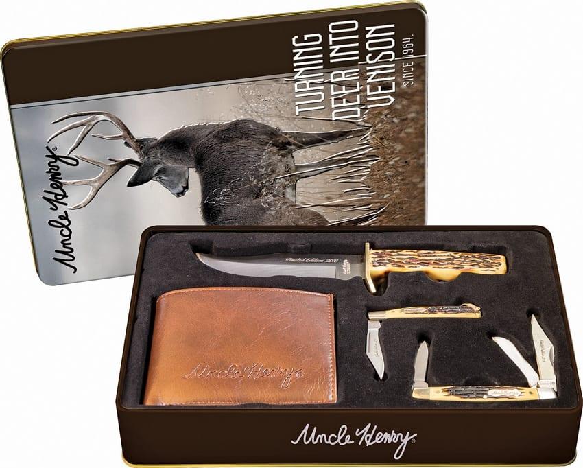 Schrade Uncle Henry Gift Set New Schp1085956