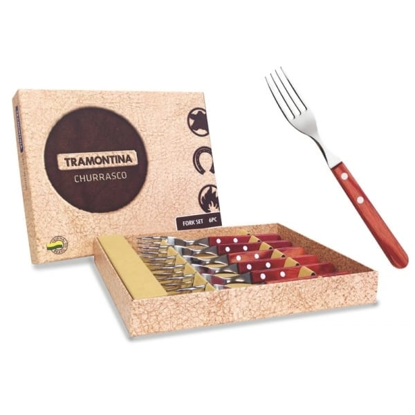 Tramontina Long Handle Polywood Red Fork Set (TRAS0076R)