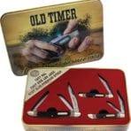 Schrade Old Timer 3 Pce Gift Tin Delrin (SCHP1105604)