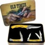 Schrade Old Timer Scrimshaw Gift Tin set (SCHP1105610)