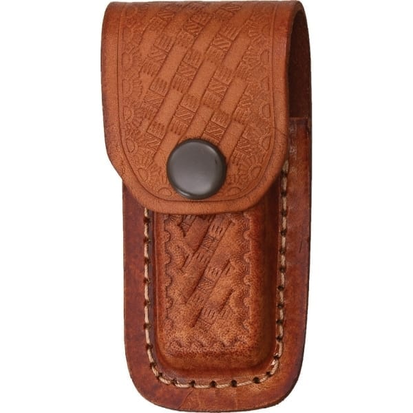"""Knife Pouch Leather Basketweave 3-3.5"""" (SH1130)"""
