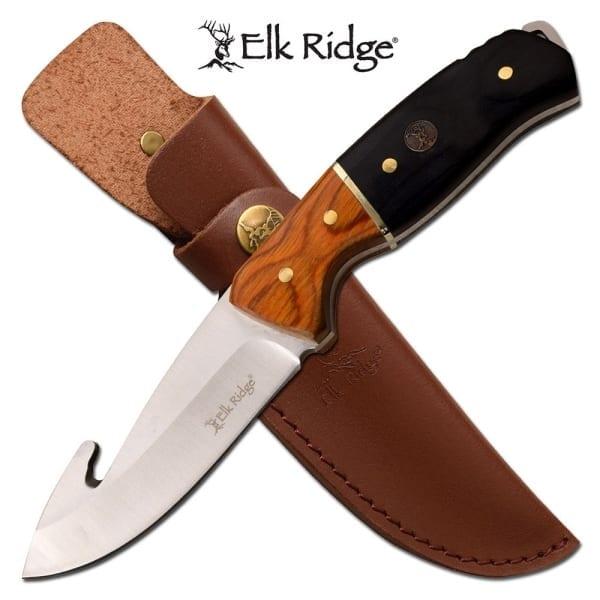 """Elk Ridge Fixed Blade Guthook 8.75"""" (ER20019GBK)"""